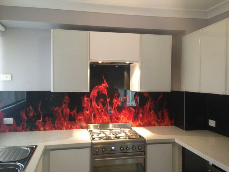 Printed Gl Kitchen Splashback Design